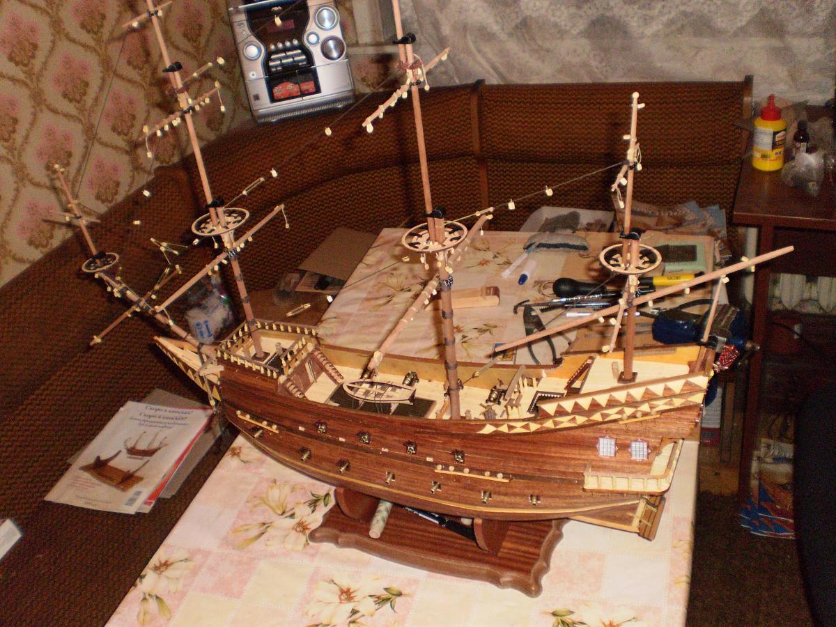 Как сделать парусный корабль из дерева своими руками 17